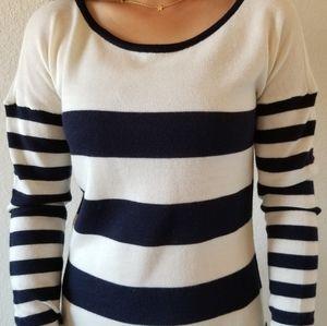 Striped Sweater Midi Dress